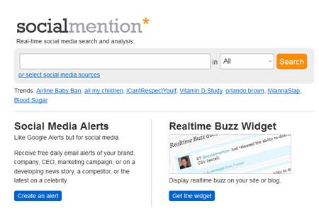 Social Mention - Real Time Search