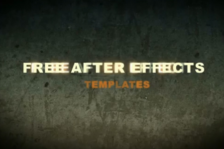 Free After Effects Template: Cinema Title