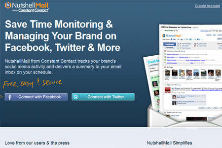 NutshellMail - Manage Social Networks With Email