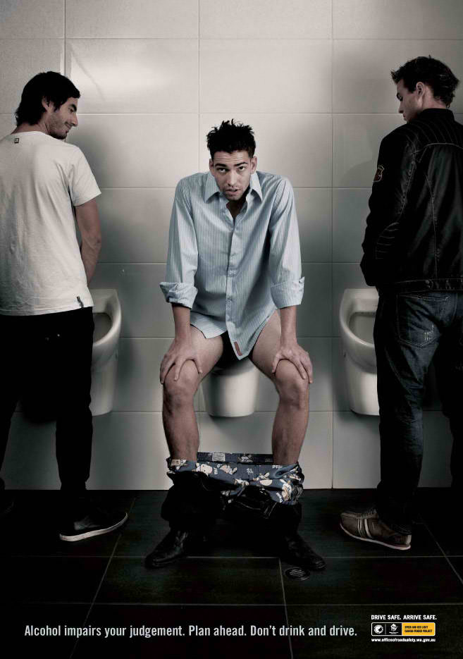 Road Safety, Drink & Drive awareness: Toilet