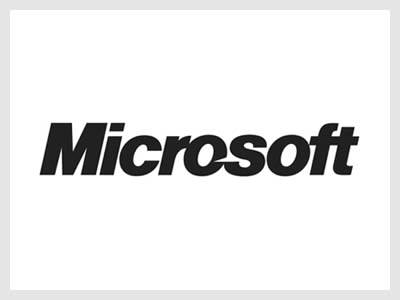 The font used in Microsoft is Helvetica Black Italic