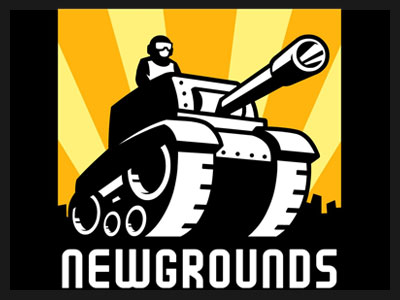 The font used in Newgrounds is Tekuteku