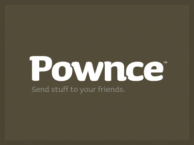 The font used in Pownce is Sauna Bold
