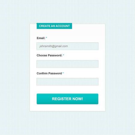 Clean & Simple Signup Form