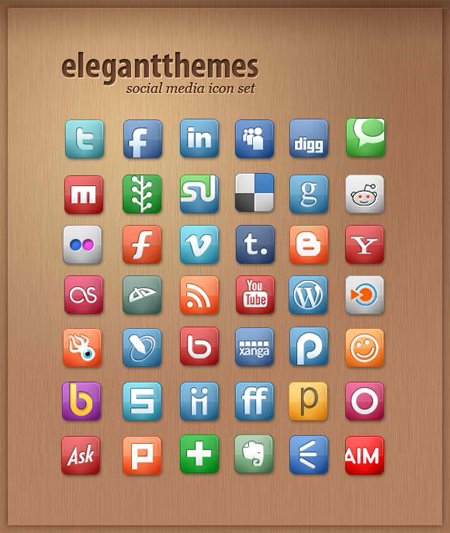 Elegant Themes - Social Media Icon Set