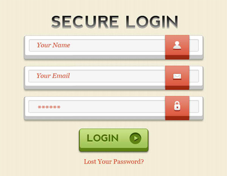 30+ Impressive Templates of Free Login Form PSD