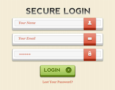 Secure Login PSD