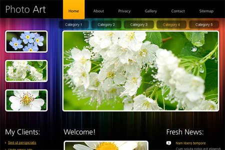 Free HTML5 Website Template Portfolio