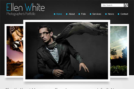 Free Website Template. Start a Photographer's Portfolio!