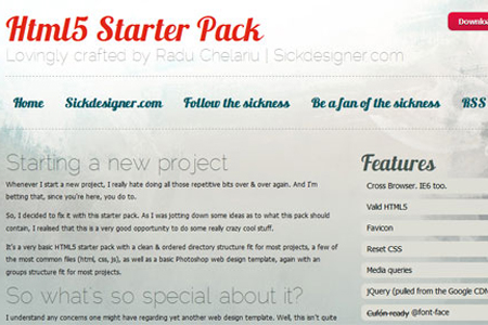 HTML5 Starter Pack – A Sick Freebie