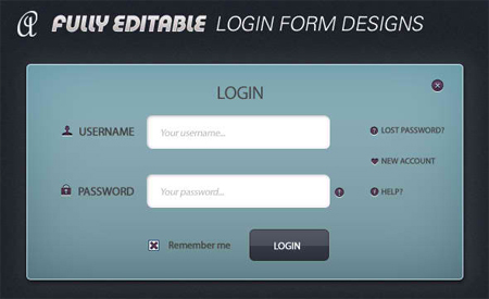 Simple Login Form Psd (Free)