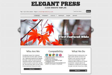 ElegantPress HTML5 and CSS3 Template