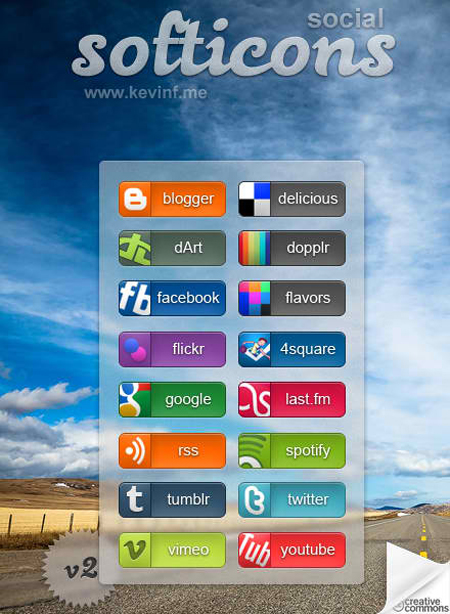 Free Social Media Buttons and Icons - Softicons