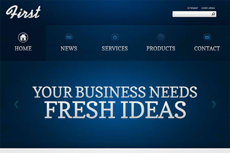 Free Website Template – Efficient Start of Your Business