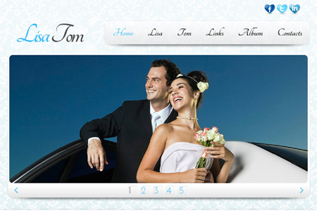 Free Website Template in Clean Style with JQuery Slider