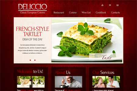 Free Website Template with JQuery Slider and Typography - Restaurant