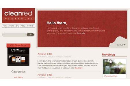 Website Template – Clean Red