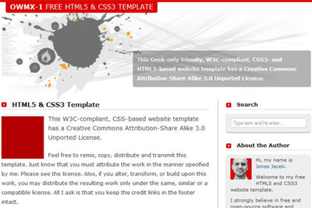 Free HTML5 & CSS3 Website Template – OWMX-1