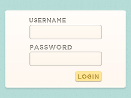 Freebie: Light Login Form