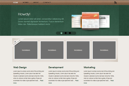 Free Website Template – Studio One