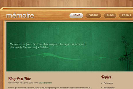 Free Website Template – Memoir