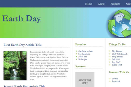 Earth Day HTML5 & CSS3 Template