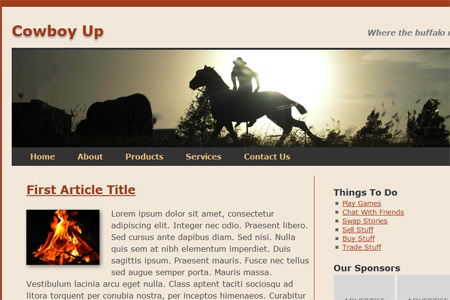 CowboyUp HTML5 Template
