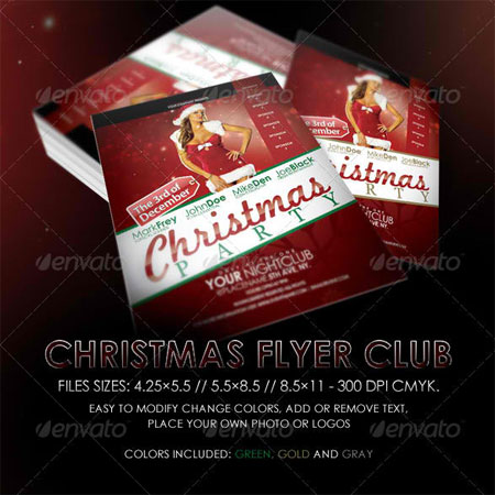 Christmas Night Club Flyer