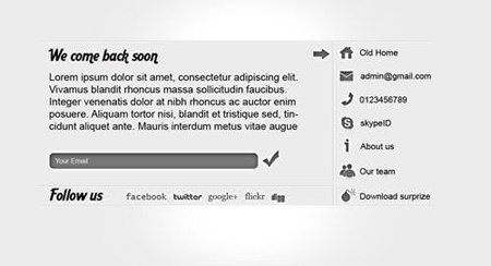Freebie: Coming Soon Page (PSD Template)
