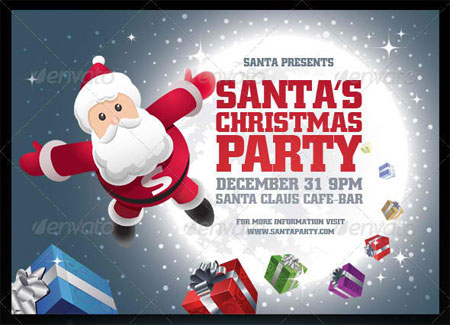 20 Top Premium Christmas Party Flyer Templates – Christmas Poster Template
