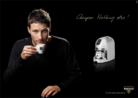 Martello: Cheaper Coffee Advertisements