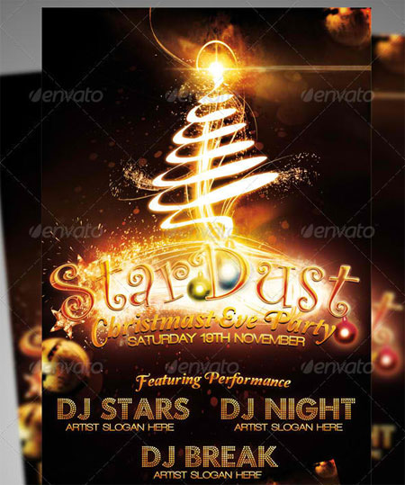 Stardust (Christmas Eve Party) Flyer Template
