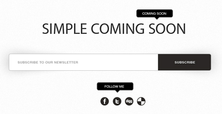 Simple Coming Soon (PSD Template)