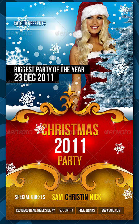 Christmas / New Year Dance Party Night Flyer
