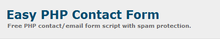 Easy PHP Contact Form