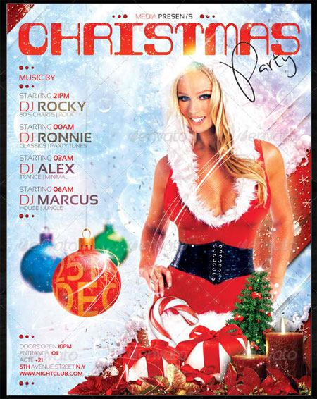 Christmas Night Club Party / Concert Flyer