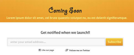 Coming Soon Template (PSD)