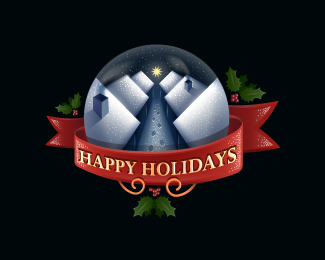 Happy Holidays Logo Design
