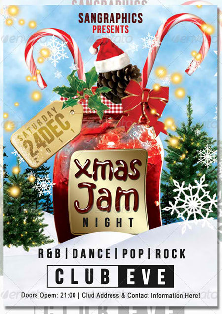 Christmas Jam Flyer Set