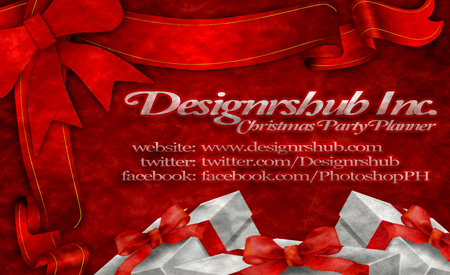 Free Christmas Business Card Template (PSD)