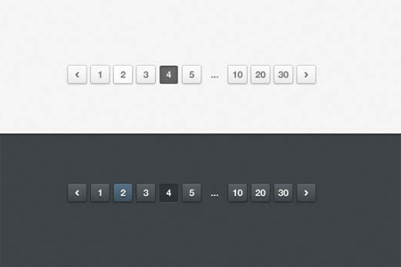Light and Dark Pagination (PSD)