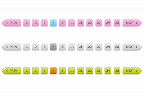 Sleek Pagination PSD (3 Colors)