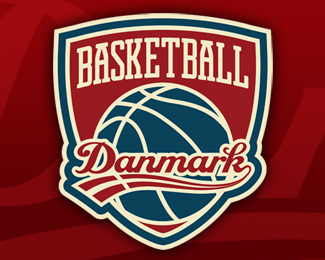 Danish National Basketball Team Logo Design