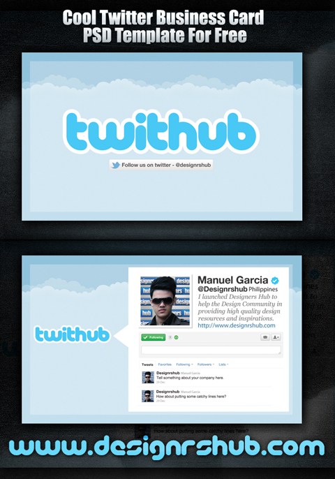 Twitter Business Card PSD Template (Preview)