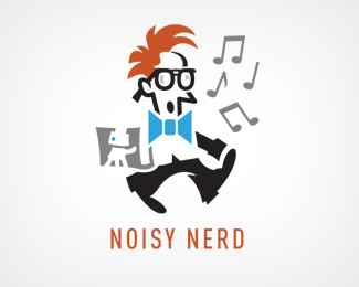Noisy Nerd Logo Design