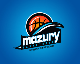 Mazury Basketball Camp Logo Design