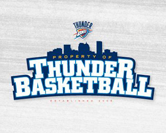 Thunder Basketball Logo Design