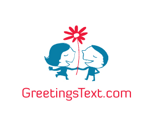 Greetings Text Logo Design
