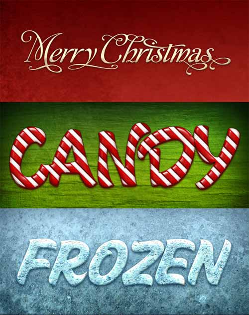 Christmas Text layer Style For Photoshop