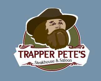 Trapper Pete's Steakhouse & Saloon Logo Design